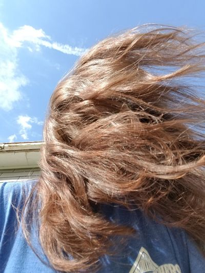 Young Women Sky Close-up Tousled Hair Tangled Hair Natural Beauty Wind Tangled Hairy  Frizzy Hair Toss Human Hair This Is Strength This Is Natural Beauty