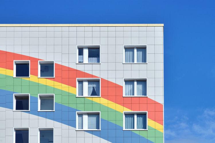 Rainbow Corner Architecture Berlin City Sky Façade Building Germany House Color Exterior Europe No People Multi Colored DE276_BERLIN_AK DE276_GERMANY_AK