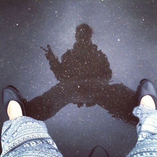 PeterPansRunawayShadow Shadow Photography Self Portrait Reflections In The Water Reflection Star - Space One Person Astronomy Galaxy Night Real People Human Body Part Personal Perspective Body Part Leisure Activity Lifestyles Human Leg