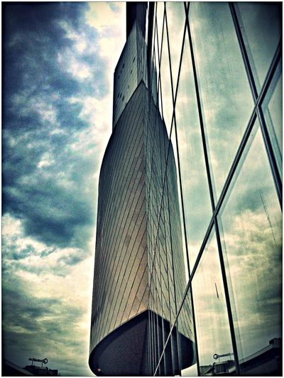 Reflection Saterday Architecture Building Clouds And Sky