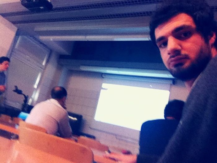 Boring lecture! Warsaw Selfie Hi!