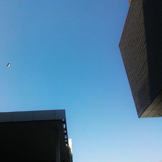 Sky Summer Blimp Building blue architecture igadict igdaily london