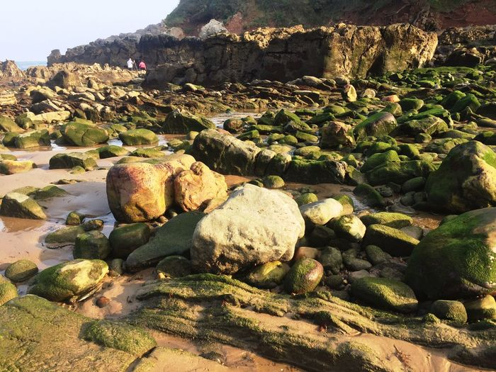 Rock - Object Nature Day No People Outdoors Tranquility Beauty In Nature Water Sky Pebble Beach Lost In The Landscape