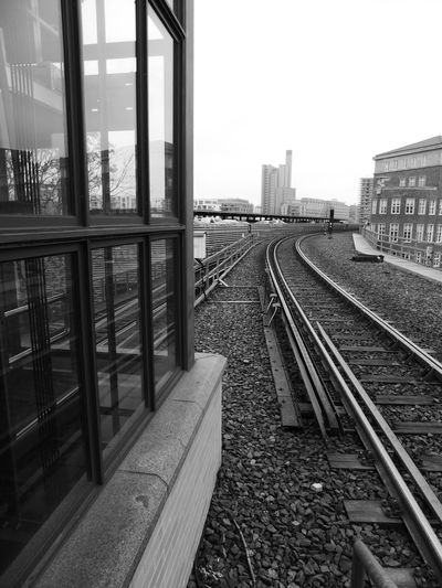 Architecture Built Structure City Day No People Outdoors Rail Transportation Railroad Track Sky The Way Forward Towards Potsdamer Platz Transportation Welcome To Black