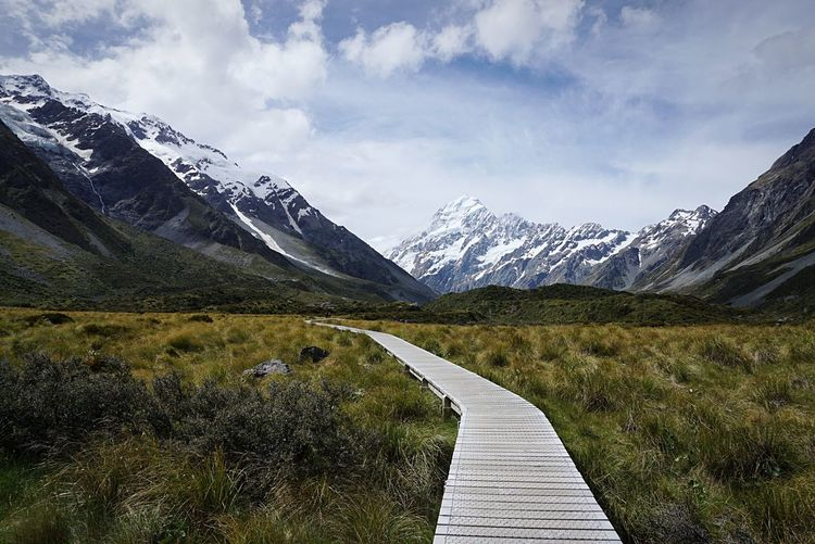 Aoraki Mount Cook National Park Mount Cook Hookervalley Travel Travel Destinations Trail Hiking Mountain Sky Beauty In Nature Scenics - Nature Cloud - Sky Mountain Range Tranquility Nature Tranquil Scene Day Environment Snowcapped Mountain Plant No People Landscape Footpath Outdoors