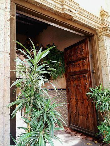 Ornate Door Plant Building Exterior Outdoors Architecture Tlaquepaque Sedona, Az