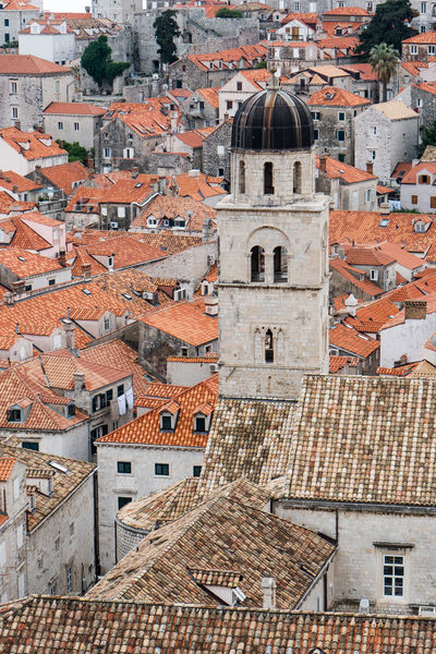 Dubrovnik, Croatia Architecture Building Exterior Built Structure City Cityscape Community Croatia Crowded Day Dubrovnik High Angle View History House Old Town Outdoors Place Of Worship Religion Residential Building Roof Roof Tile Spirituality Tiled Roof  Tower Town Travel Destinations
