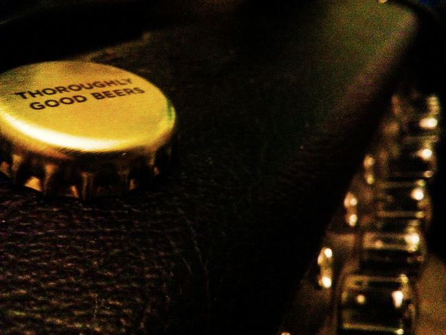 Bottle top on a guitar amp. Evocative to me as it was the first picture I took after hearing the tragic news about Prince. Completely unrelated image, but has those feelings attached to it, for me. Bottle Top Guitar Amp Good Beer Drinking Writing Bottle Cap Sad News Personal Sentiment Manchester