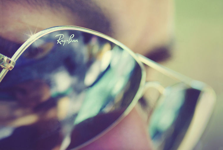 Man with sunglasses Bokeh Flare Man Manchester Rayban Refections Sunglasses Vintage