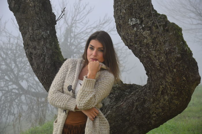 Autumn Autunno  Focus On Foreground Model Modella Natura Nature Nebbia