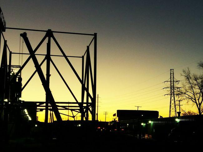 Silhouette Sunrise Sky Built Structure Industry Industry In City Industial Landscap Urban Skyline EyeEmNewHere