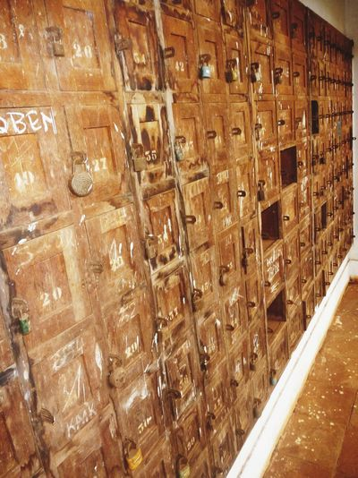 Old Wood Stained Wood Office Mailboxes Bukavu Lockers Decay Colonialism Bagira Inner Power
