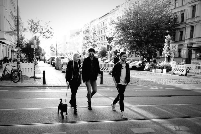 Crossing The Street Enjoying Life Flaneur Dog Streetphotography Streetphoto_bw Blackandwhite