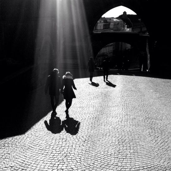 Streetphotography Blackandwhite Shootermag Where There Is Light, There Is Love.