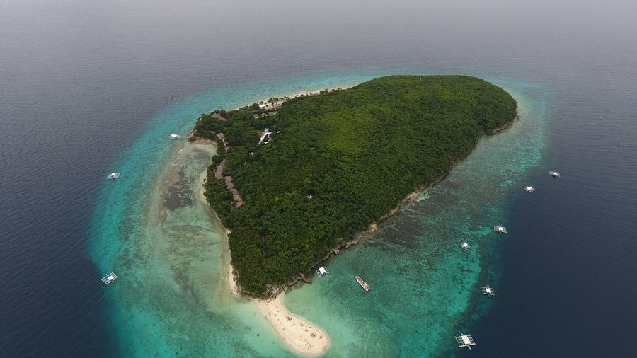 High Angle View Of Island