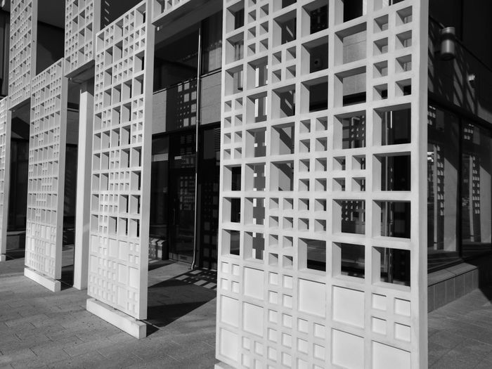 EyeEm Selects Built Structure Architecture No People Day Building Exterior Squares And Rectangles Square Exterior Concrete Concrete Wall Monochrome Black And White