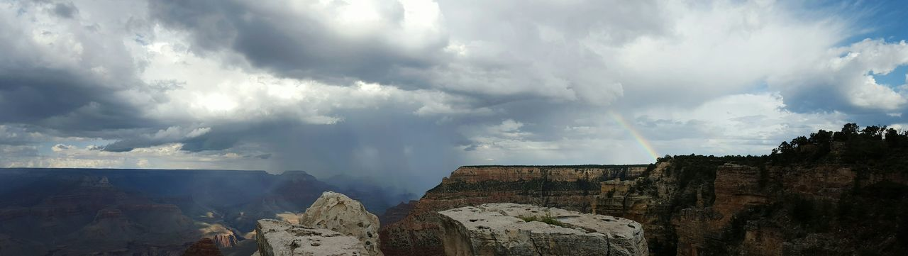 Panoramic View Of Storm Clouds Over Grand Canyon National Park