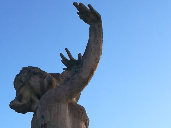 Blue Outdoors Statue Monument Marble