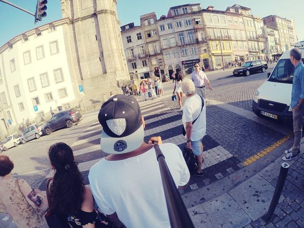 Large Group Of People Architecture Building Exterior Travel Destinations City Life Photographing Tourism Backselfie Sidewalk Road Wifey♡ Porto Portugal 🇵🇹