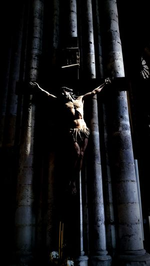 Beauvais Cathedral Cathédrale De Beauvais Crucifix Religion Religious Art Sculpture Light And Shadow Gothic Church TakeoverContrast
