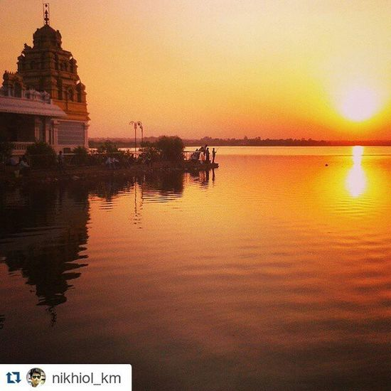 Repost @nikhiol_km with @repostapp ・・・ Beautiful shotAwsesome Evening Sunset Friends Unkal Hubli