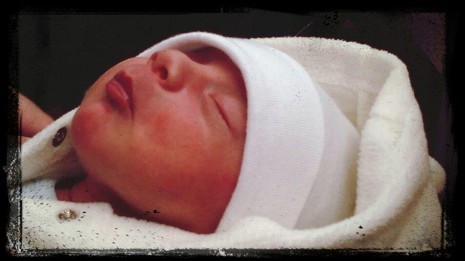 This is my nephew, he was born 3 weeks ago. Enjoying Life Hello World People