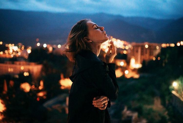 Beautiful People Females One Woman Only Only Women City Beauty Dusk Night Women Adults Only One Person Young Adult Adult Beautiful Woman Illuminated People Standing Sky Young Women One Young Woman Only