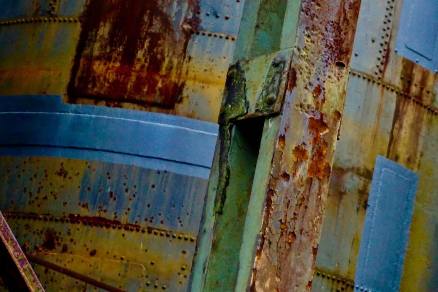 Industry Steel Factory Abandoned Color Palette Damaged Deterioration No People Outdoors Paint Run-down Rusty Weathered