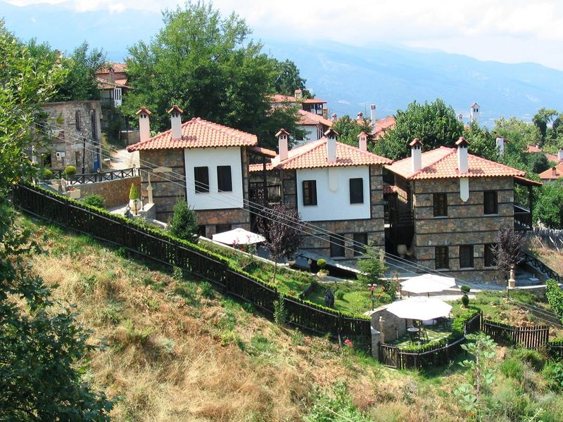 Architecture Built Structure Greece House Mountains And Valleys No People Outdoors Panteleimonas Sky Stone Houses