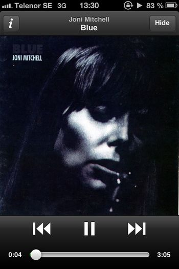 Album Art What Are You Listen To Light It Up Blue Joni Mitchell