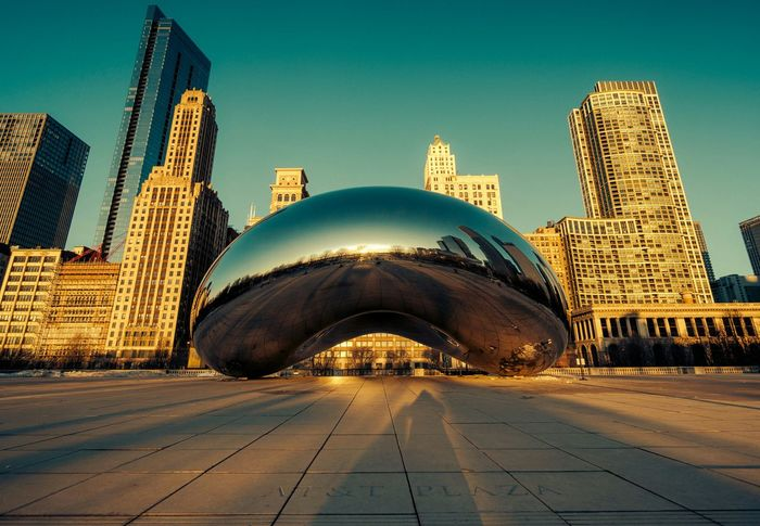 The Architect - 2015 EyeEm Awards Chicago Chitecture The Bean Cloud Gate Vscofilm No People Seeing The Sights Battle Of The Cities Light And Reflection. The City Light Colour Your Horizn