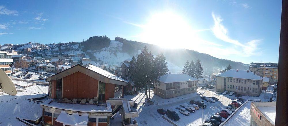Sun Skyandclouds Winter Snow