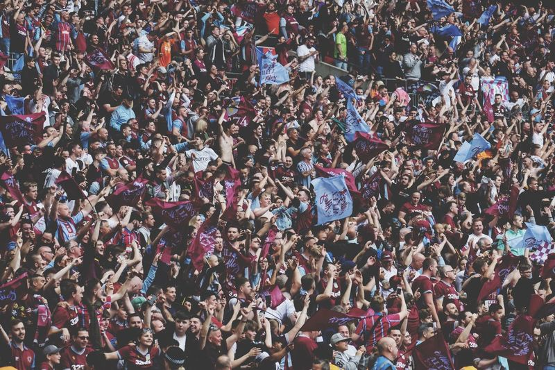 Aston Villa Supporters celebrating being promoted to the Premier League Crowd Group Of People Large Group Of People Real People Full Frame Togetherness The Photojournalist - 2019 EyeEm Awards