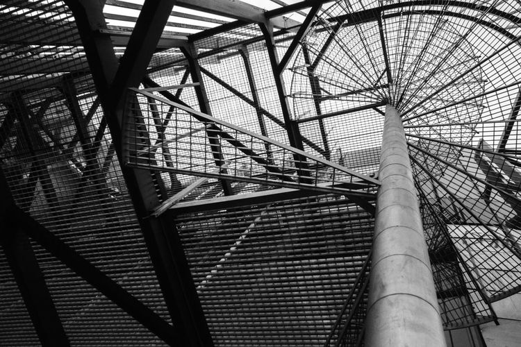 Abstract Arhitecture Blackandwhite Low Angle View Metal Structure Spiral Stra Stairs