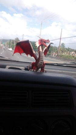 Hagrid My new dragon Dragon Toy Figure Toy Odd Silly Red Red Dragon