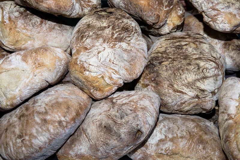 Full frame shot of bread for sale
