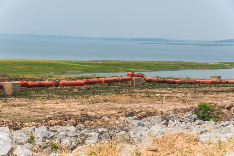 View Of Pipeline By Sea