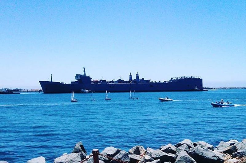 A Navy ship in
