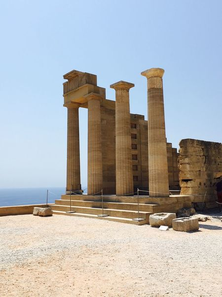 Acropolis Old Old Buildings Temple No People Ancient Ancient Architecture Greek Greek Islands Rhodes Greece Ancient Ruins Taking Photos Sightseeing