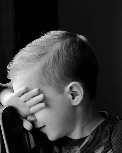 Poor kid was sick of me taking photos! Momwithacamera Nonstopphotos Newhair Newhaircut Undercut UnderCutNation Preschooler Kidsofinstagram Stopmom CameraShy Blackandwhite Bandw Myson Lovethiskid