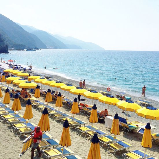 Monterosso Monterossoalmare Monterosso Al Mare Beach Beach Photography Beach Life Umbrella Beachumbrellas Italy Italia Liguria Liguria,Italy Italian Riveria Northern Italy Vacation Holiday Trip Adventure Backpacking Europe Summer Summertime Backpack IPhone Iphoneonly Neon Life