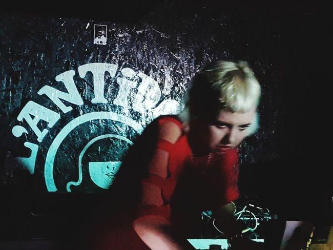 Portrait Of A Woman Concert Singer  Dj Iceland Band Radio DJ Turntable Club Dj Clubbing Nightclub Sound Mixer