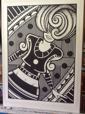 """It's a dance party Sunday. 20x28"""" drawing. Art Drawing Dancing Sketch"""
