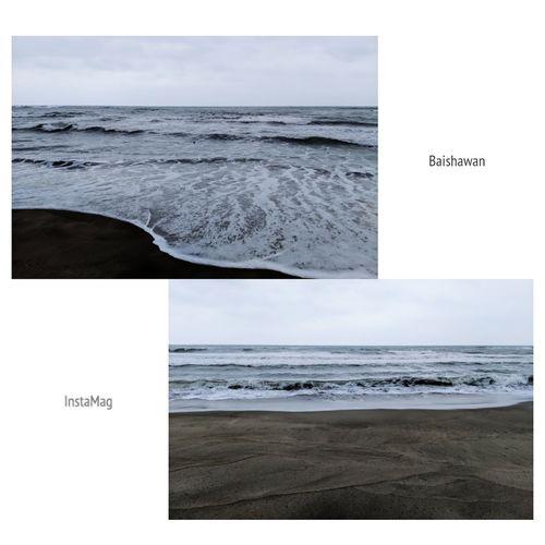 白白的~ Baishawan BaishawanBeach BaishaBay ShimenDistrict Shimen 白沙湾レジャーエリア 白沙灣 白沙灣海水浴場 石門區 石門 Water Sea Beach Wave Horizon Paper Sand Sky Horizon Over Water Close-up
