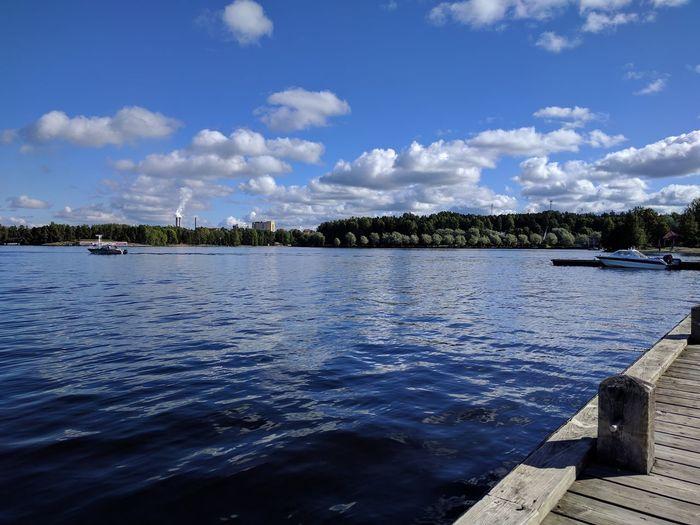 Boat moored at