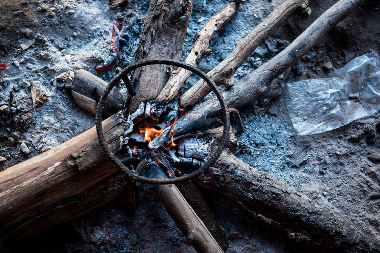 bonfire camping in the winter Travel Wanderlust Winter Wood Around The World Bonfire Burning Campfire Cold Days Cooking At Camping Day Fire Firewood Flame Forest Heat - Temperature High Angle View Metal Nature No People Outdoors Transportation Water Wood Wood - Material