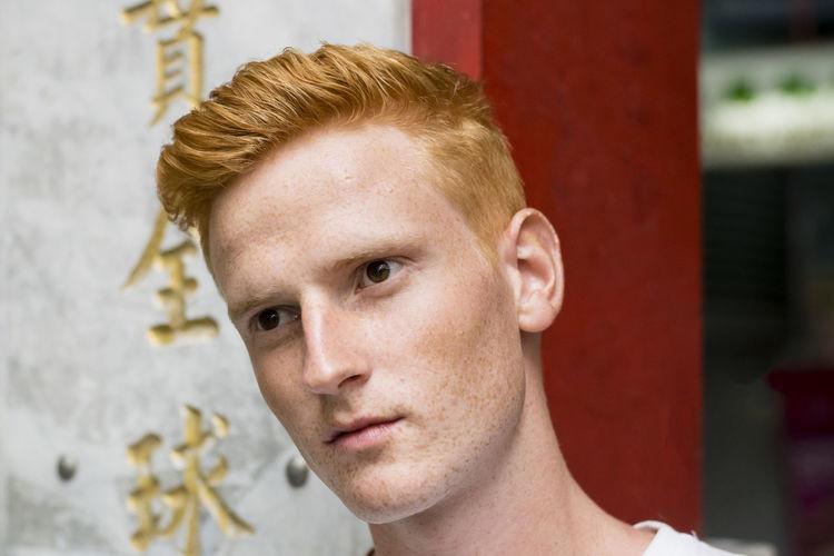 Close-Up Of Young Man