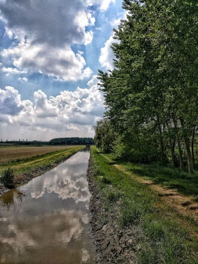 Hdr_Collection Water Reflection Sky And Clouds Agriculture Perspective