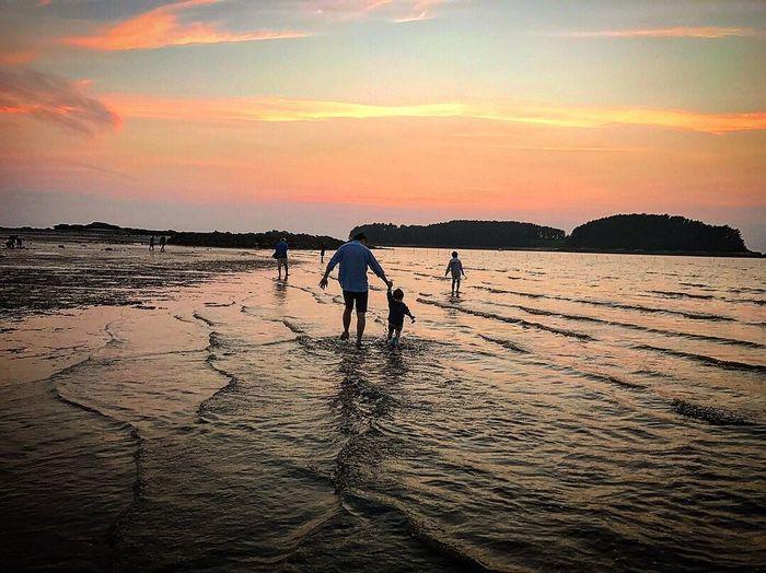 가족여행 Sunset Ocean