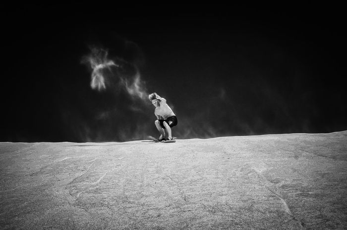 Cape Town Desert Blackandwhite Dune Motion One Person Sand Sand Surfing Sport Summer Sports Surfboard EyeEmNewHere Be Brave My Best Travel Photo Holiday Moments